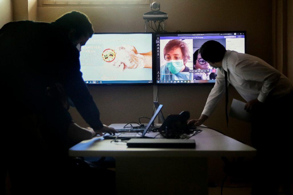Projeto conta com uma Central de Telemedicina, montada no Hospital de Base, com painéis para monitoramento em tempo real