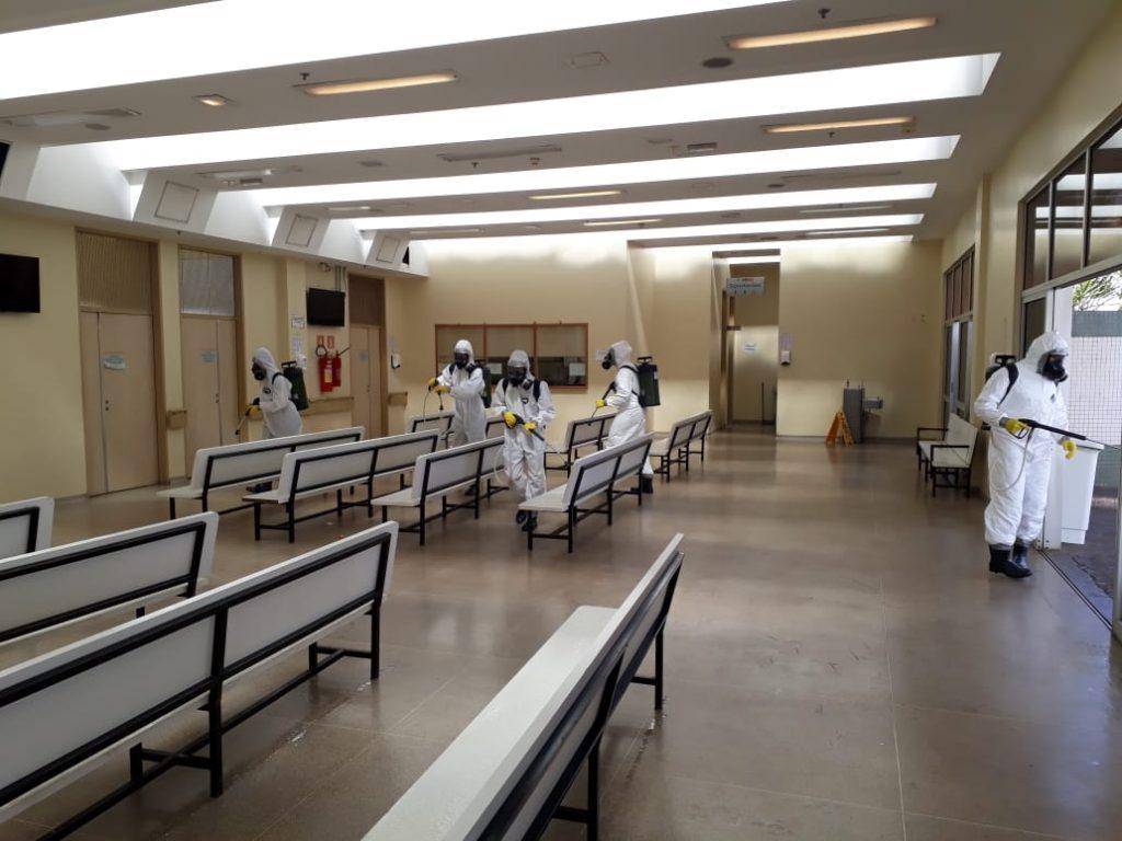 Hospital de Santa Maria passou por desinfecção em junho para evitar contágios do coronavírus