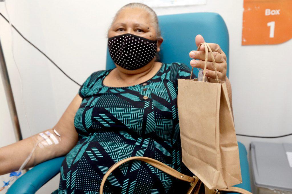 Eunice de Sena faz tratamento há dois anos no HB