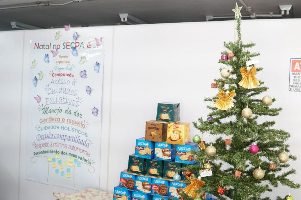 Decoração natalina do Serviço de Cuidados Paliativos no HB