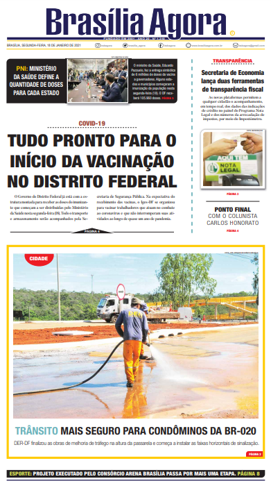 Brasília Agora – Capa – 18.01.2021