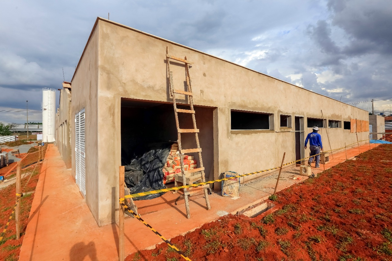 UPA em construção na Expansão do Setor O, em Ceilândia
