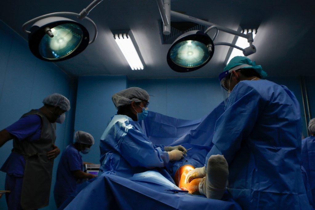 Para a mobilização, estão sendo usadas duas salas do centro cirúrgico