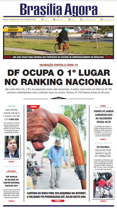 Brasília Agora – Capa – 08.02.2021