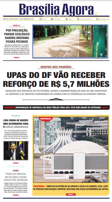 Brasília Agora – Capa – 11.02.2021