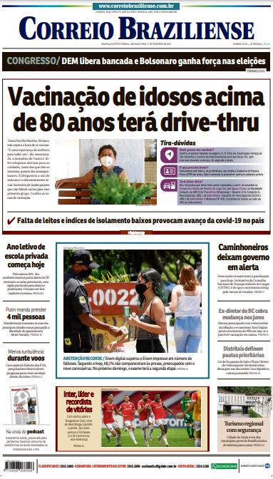 Correio Braziliense – Capa – 01.02.2021