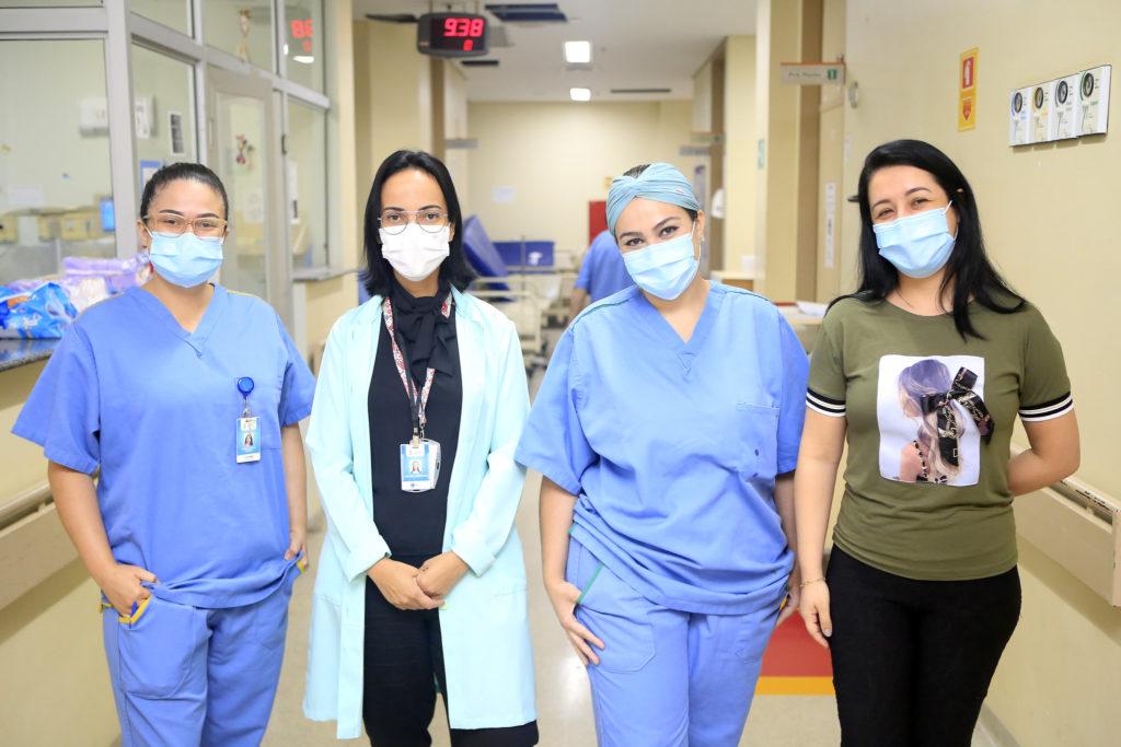Equipe do Hospital de Santa Maria: união para atender com excelência todas as mães e seus filhos
