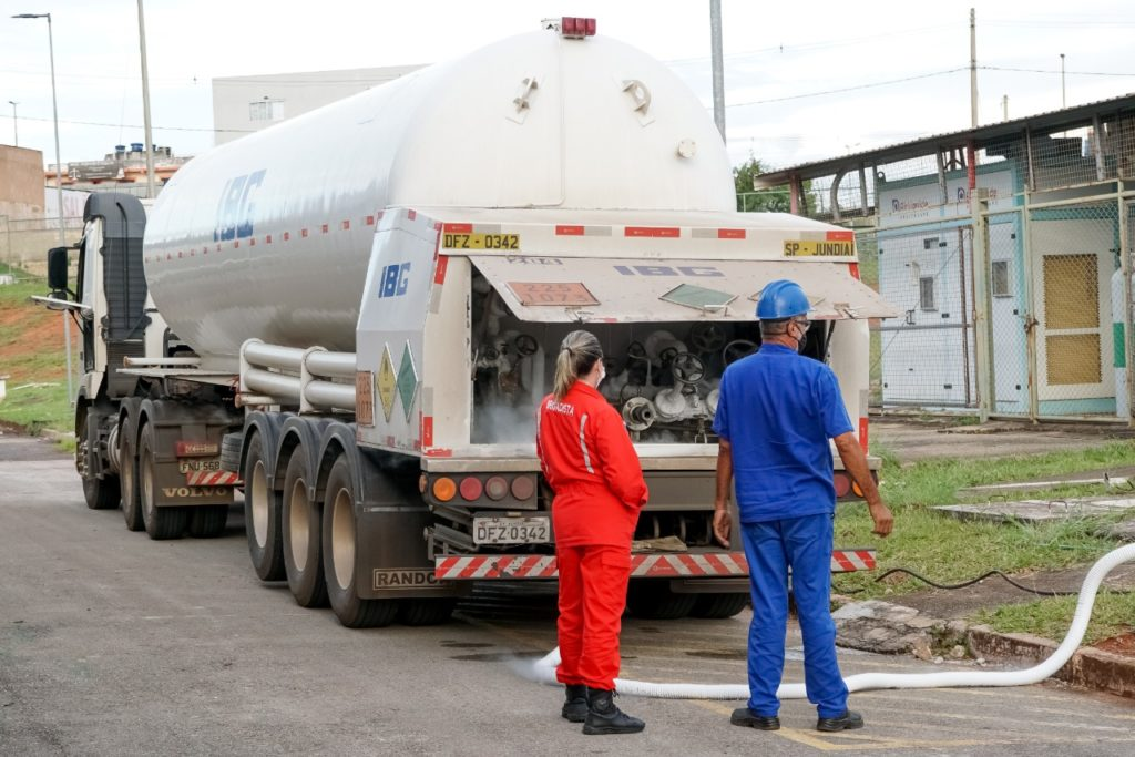 Oxigênio é fornecido pela empresa IBG — Indústria Brasileira de Gases