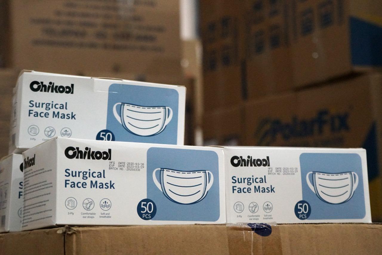 As 250 mil máscaras que chegaram hoje abasteceram as oito unidades do Iges-DF