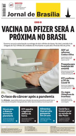 Jornal de Brasília – Capa – 15.04.2021