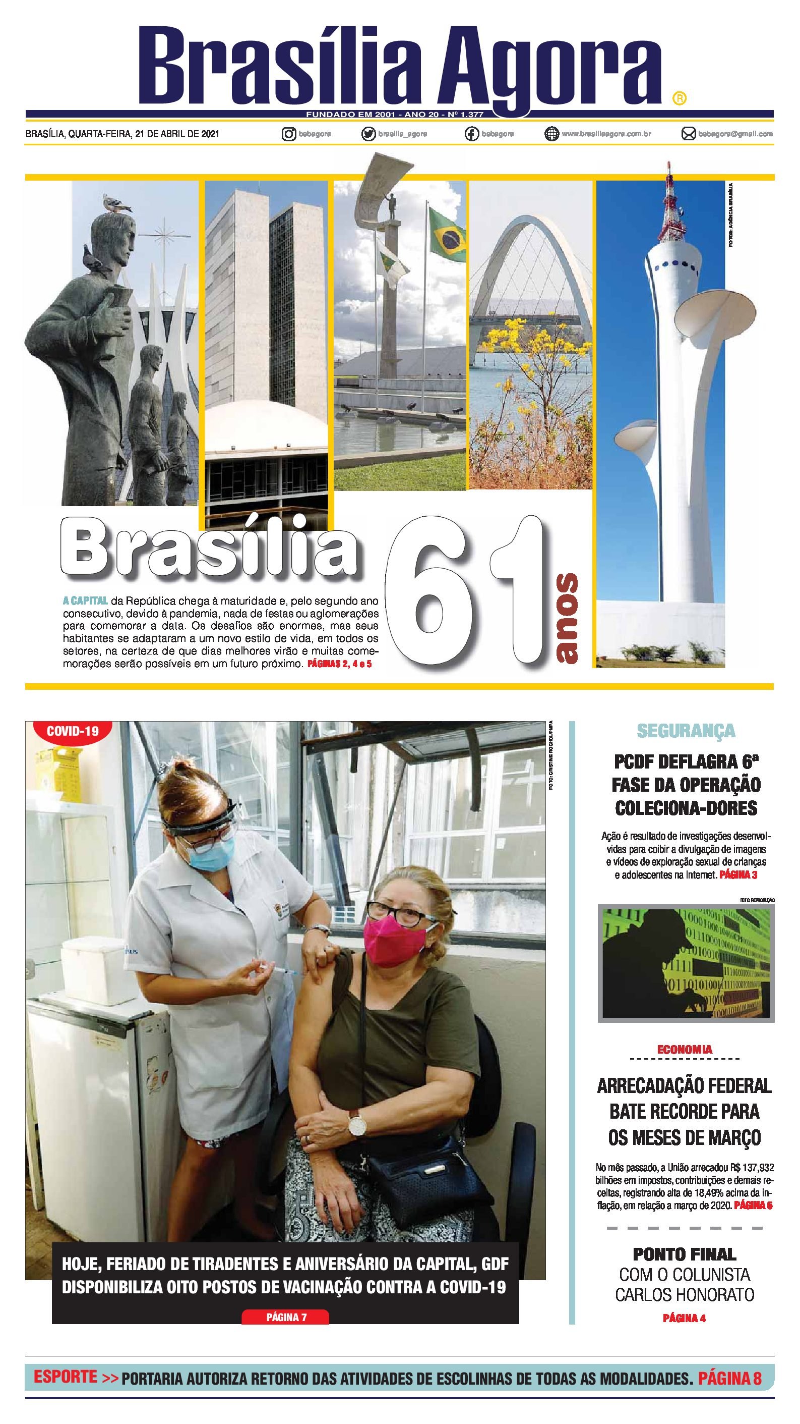 Brasília Agora – Capa – 21.04.2021