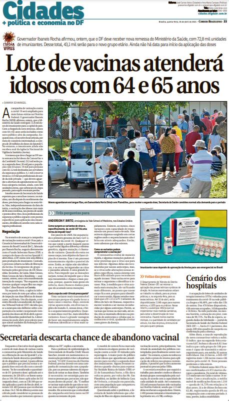 Correio Braziliense – Pág 33 – 15.04.2021