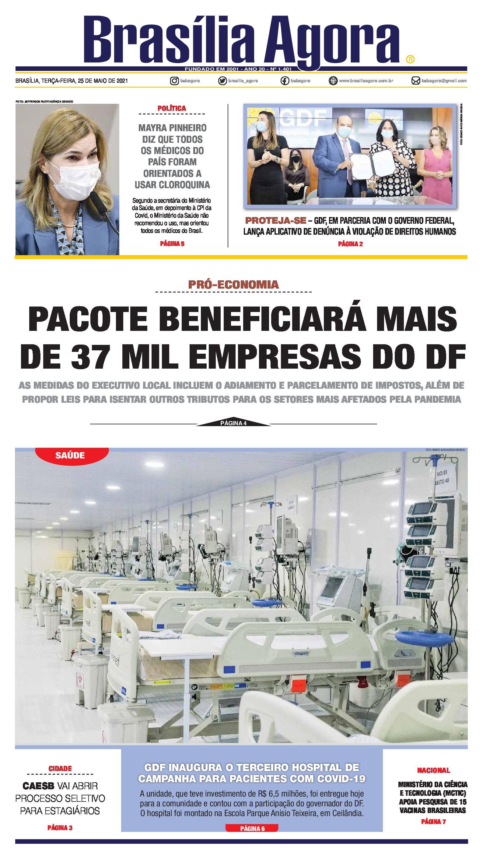 Capa – Brasília Agora_25.05.2021