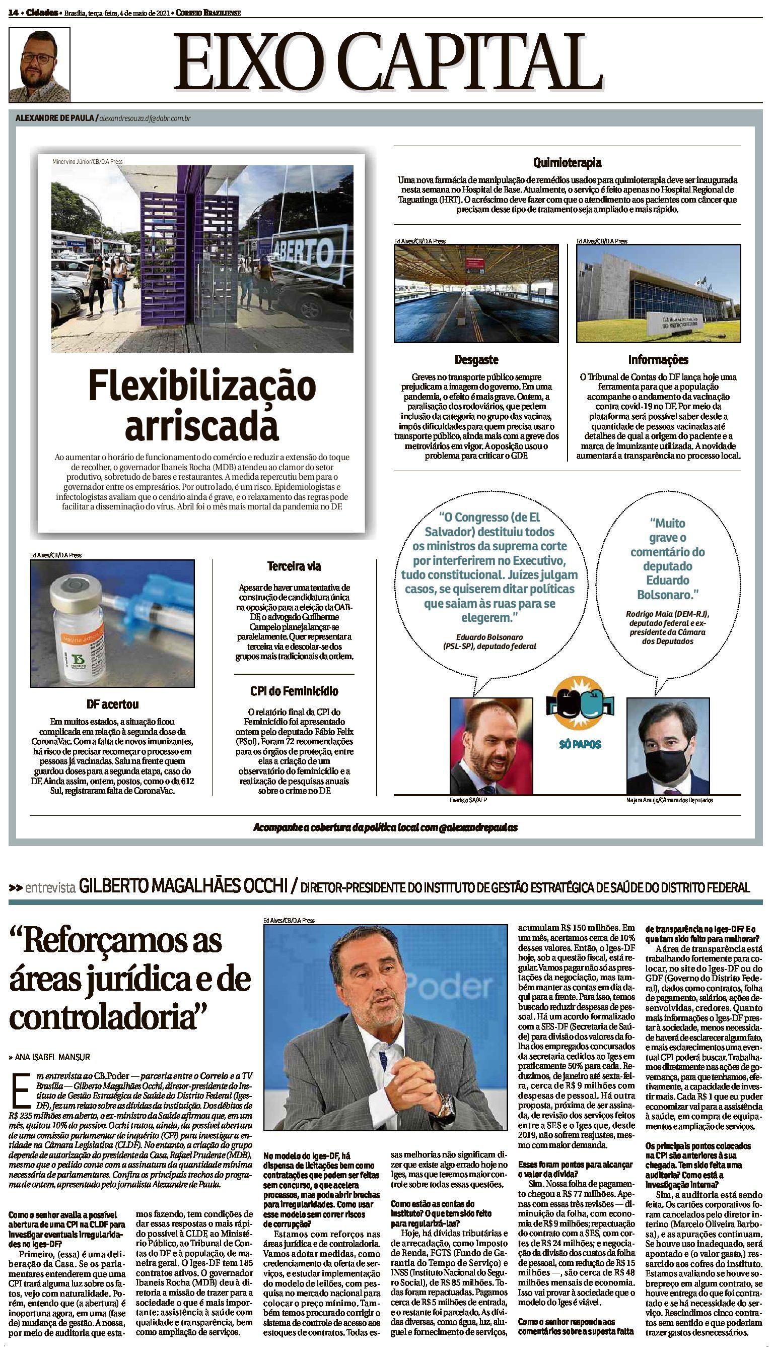 Correio Braziliense – PG 14 – 04.05.2021